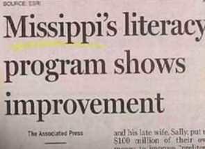 Mississippi misspelt in print